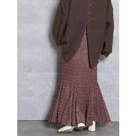レースロングマーメイドスカート(ブラウン)