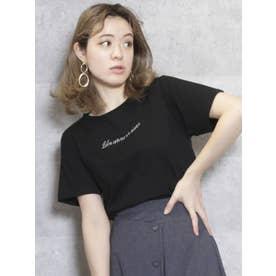 サイドプチポイントTシャツ(ブラック)