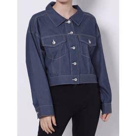 ライトショートシャツジャケット(インディゴ)