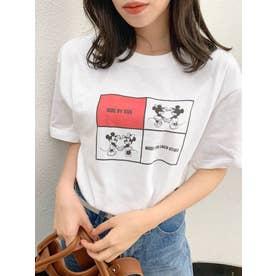 "【Disney】""PERFECT PAIR"" Tシャツ(オフホワイト)"