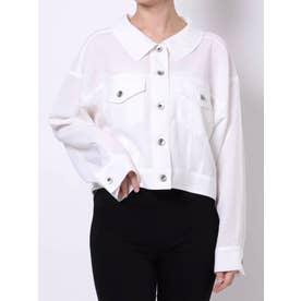 【C】ライトショートシャツジャケット(オフホワイト)