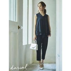 タイデザインセットアップパンツドレス BLACK