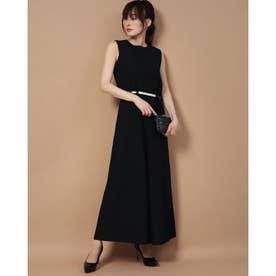 ベルト付きパンツドレス BLACK