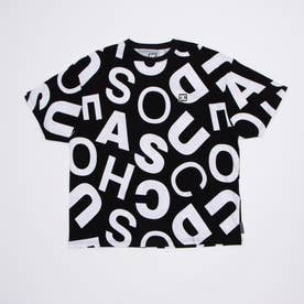 DC/ルーズシルエット 総柄Tシャツ DST211034 (ブラック)