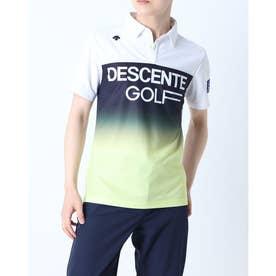 メンズ ゴルフ 長袖シャツ ハンソデシヤツ(ニツト) DGMRJA43 (ホワイト)