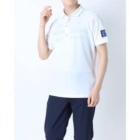 メンズ ゴルフ 長袖シャツ ハンソデシヤツ(ニツト) DGMPJA35 (ホワイト)