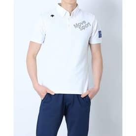 メンズ ゴルフ 長袖シャツ ハンソデシヤツ(ニツト) DGMRJA47 (ホワイト)