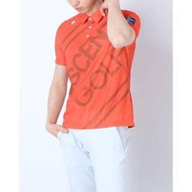 メンズ ゴルフ 長袖シャツ ハンソデシヤツ(ニツト) DGMRJA48 (オレンジ)