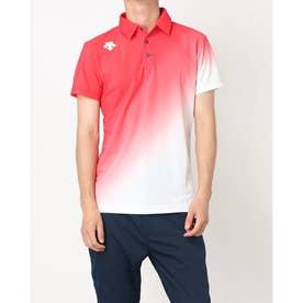 メンズ ゴルフ 半袖シャツ ライジンググラデーションシャツ DGMPJA02OP (レッド)
