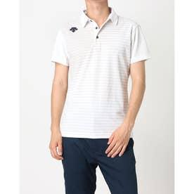 メンズ ゴルフ 半袖シャツ ライジングボーダーシャツ DGMPJA01OP (グレー)