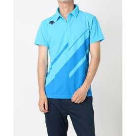 メンズ ゴルフ 半袖シャツ ライジングプリントシャツ DGMPJA00OP (ブルー)