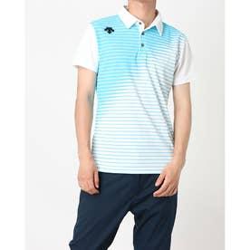 メンズ ゴルフ 半袖シャツ ライジングボーダーシャツ DGMPJA01OP (ブルー)