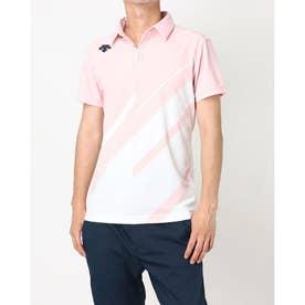 メンズ ゴルフ 半袖シャツ ライジングプリントシャツ DGMPJA00OP (ピンク)