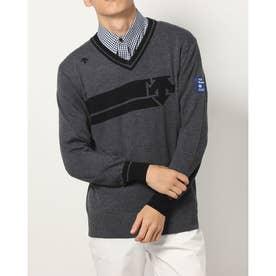 メンズ ゴルフ 長袖セーター セーター/カーデイガン DGMSJL13 (グレー)