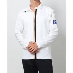 メンズ ゴルフ 長袖シャツ ナガソデニツトシヤツ DGMSJB13 (ホワイト)