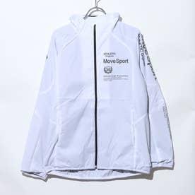 メンズ ウインドジャケット AIR THERMOTION ライトジャケット DMMQJF32 (ホワイト)