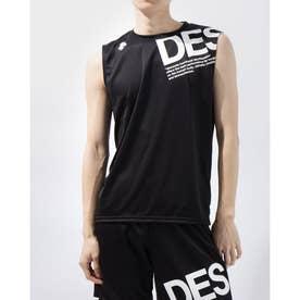 メンズ ノースリーブ機能シャツ ノースリーブシャツ DX-C0777AP (ブラック)