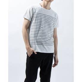 メンズ 半袖Tシャツ グラフィック ハンソデTシャツ DMMRJA50Z (ホワイト)