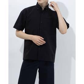 メンズ 半袖シャツ ハンソデボタンダウンシャツ DX-C0949AP (ブラック)