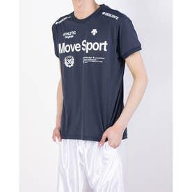 メンズ 半袖機能Tシャツ ドライトランスファーハンソデTシャツ DMMRJA56 (ネイビー)