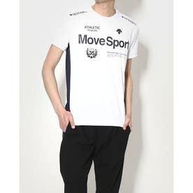 メンズ 半袖機能Tシャツ ドライトランスファーハンソデTシャツ DMMRJA56 (ホワイト)