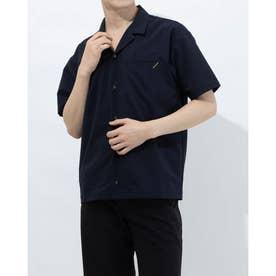 メンズ 半袖シャツ オープンカラーシャツ DX-C0930AP (ネイビー)