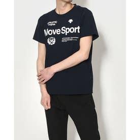 メンズ 半袖機能Tシャツ サンスクリーン ハンソデTシャツ DMMRJA60 (ネイビー)