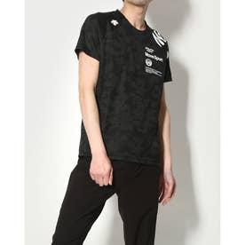 メンズ 半袖機能Tシャツ ジャガードハンソデTシャツ DMMRJA55 (ブラック)