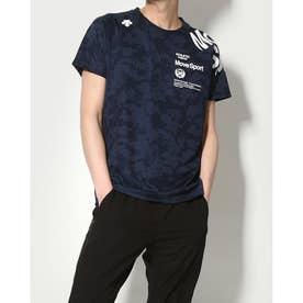 メンズ 半袖機能Tシャツ ジャガードハンソデTシャツ DMMRJA55 (ネイビー)