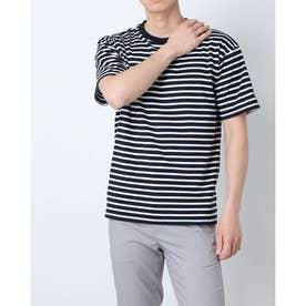メンズ 半袖Tシャツ ボーダーハンソデシャツ DX-C0934AP (ネイビー)