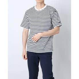メンズ 半袖Tシャツ ボーダーハンソデシャツ DX-C0934AP (ホワイト)