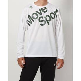 メンズ 長袖機能Tシャツ ナガソデTシャツ DMMSJB50 (ホワイト)