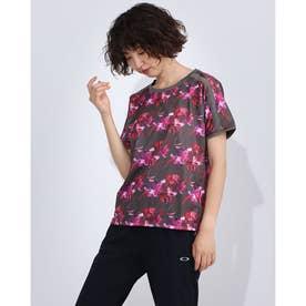 レディース 半袖機能Tシャツ フラワーグラフィック 半袖Tシャツ DMWQJA52