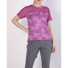 レディース 半袖機能Tシャツ グラフィック ハンソデTシャツ DMWRJA53 (ピンク)
