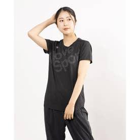 レディース 半袖機能Tシャツ SUNSCREEN ハンソデTシャツ DMWRJA50 (ブラック)