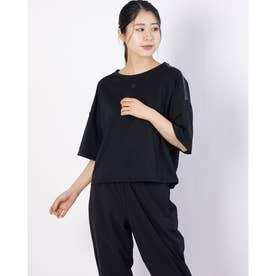 レディース 半袖機能Tシャツ TOUGHハンソデTシャツ DMWRJA55 (ブラック)
