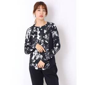 レディース 長袖機能Tシャツ S.F.TECHグラフィックLSシャツ DMWSJB56 (ブラック)
