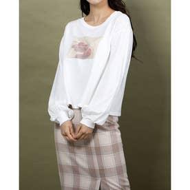 cherry ロングスリーブTシャツ (オフホワイト)