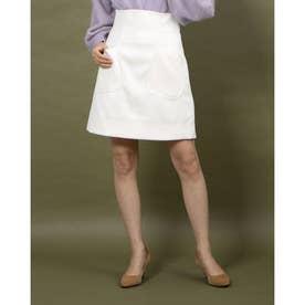 カルゼポケットミニスカート (オフホワイト)