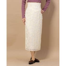 フラワーカットJQタイトスカート (アイボリー)