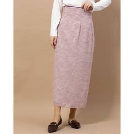 フラワーカットJQタイトスカート (ピンク)