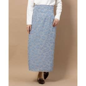 フラワーカットJQタイトスカート (ライトブルー)