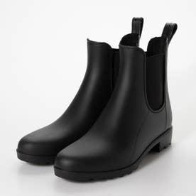 雨でもおしゃれに履ける☆サイドゴアレインブーツ (ブラック)