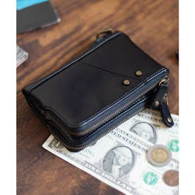 Control crass ダブルジップ折財布 (ブラック)
