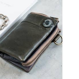 ヴィンテージ 二つ折り 財布 (ターコイズ)