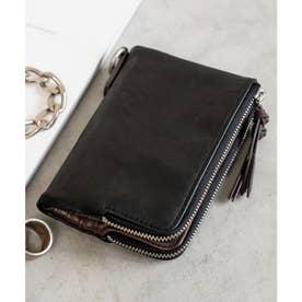 gland 二つ折り財布 (ブラック)