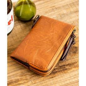 gland 二つ折り財布 (キャメル)