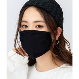 繰り返し洗える 冷感マスク 速乾性コットンマスク【返品不可商品】 (ブラック)