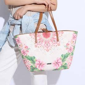 ショッピングバッグ FLOWER VALKYRIA SICILIA RE (ピンク/レッド)