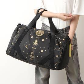 占星術モチーフのプリント入りスポーツバッグ (グレー/ブラック)